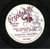 MARILYN MAXWELL, Autographed PROMO 78, Crystalette CR 666!