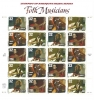 USPS Sheet of Blues & American Folk Music Heroes Stamps