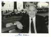 GEORGE WEIN SIGNED photo on park bench