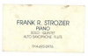 FRANK STROZIER Business Card