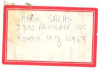 AARON SACHS Address Label (written in his hand)