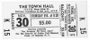 TOWN HALL Evening of Real Jazz ticket 11/30/1972