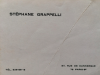 STÉPHANE GRAPPELLI business card