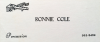 RONNIE COLE business card