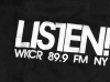 "WKCR ""LISTEN"" T-shirt  — dark Blue XL but cut a tad small to that size"