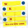 WKCR T-shirt yellow slats MEDIUM